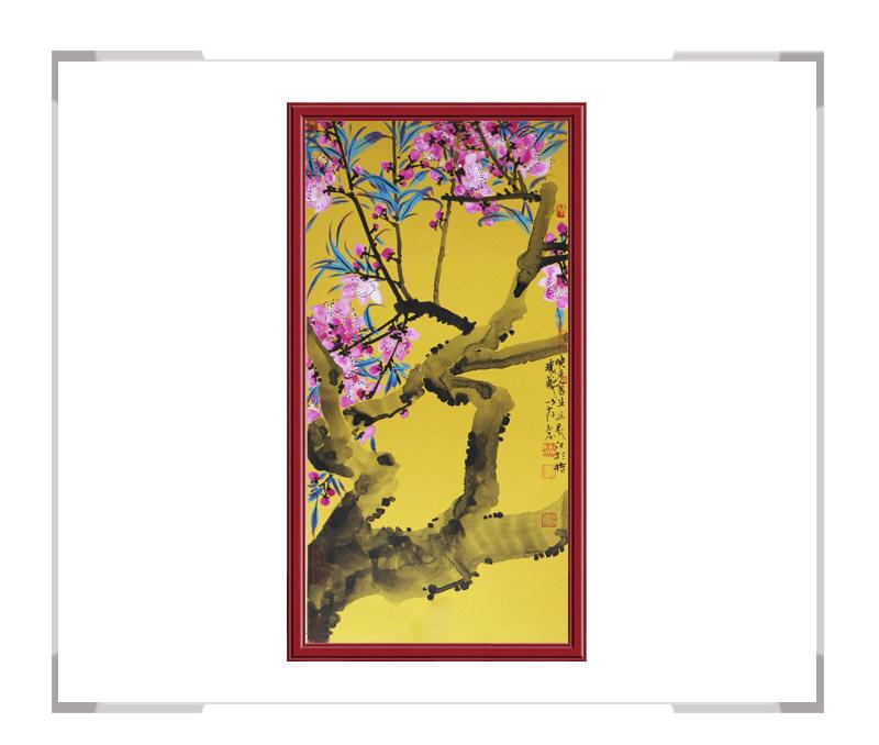 中国美术家协会会员画家刘晓东-竖幅花鸟画作品一