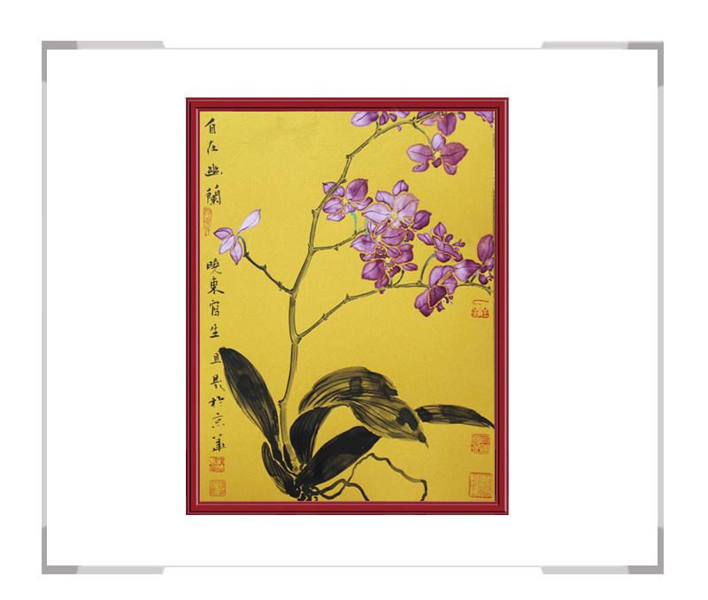 中国美术家协会会员画家刘晓东-花鸟竖幅作品一