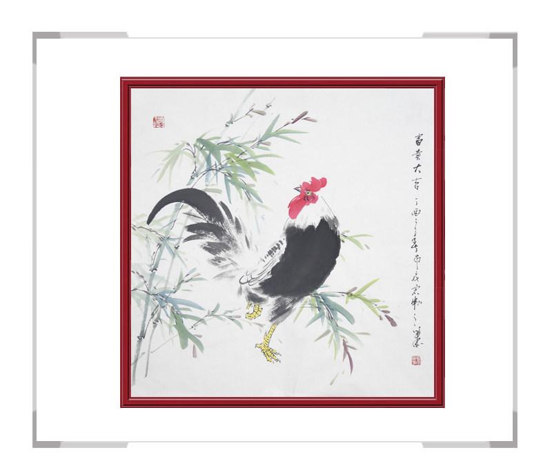 中国工笔画学会会员刘宗伟作品-斗方花鸟画之二
