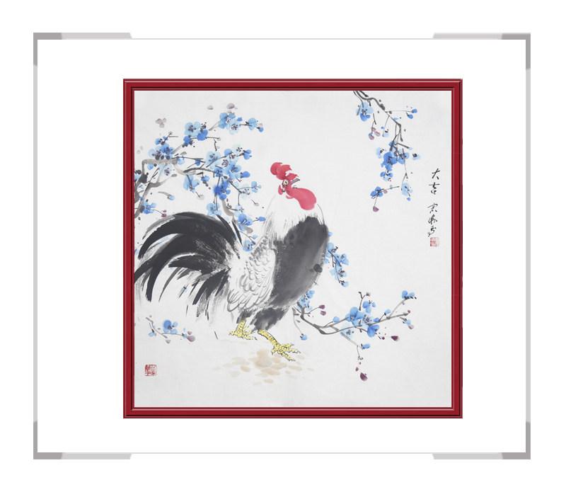 中国工笔画学会会员刘宗伟作品-斗方花鸟画之三