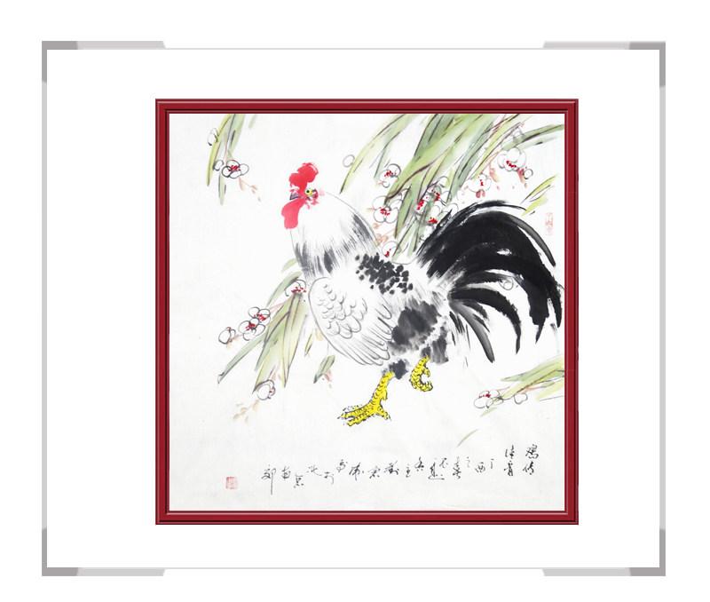 中国工笔画学会会员刘宗伟-斗方花鸟画作品三
