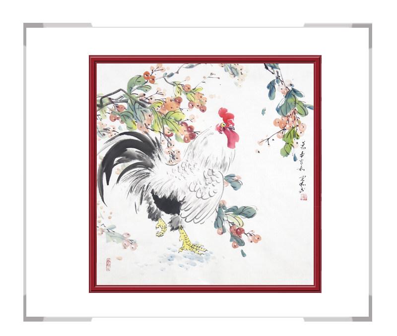 中国工笔画学会会员刘宗伟-斗方花鸟作品之一