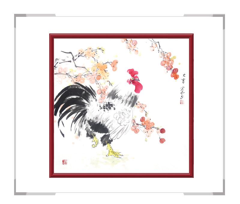 中国工笔画学会会员刘宗伟-斗方花鸟作品之二