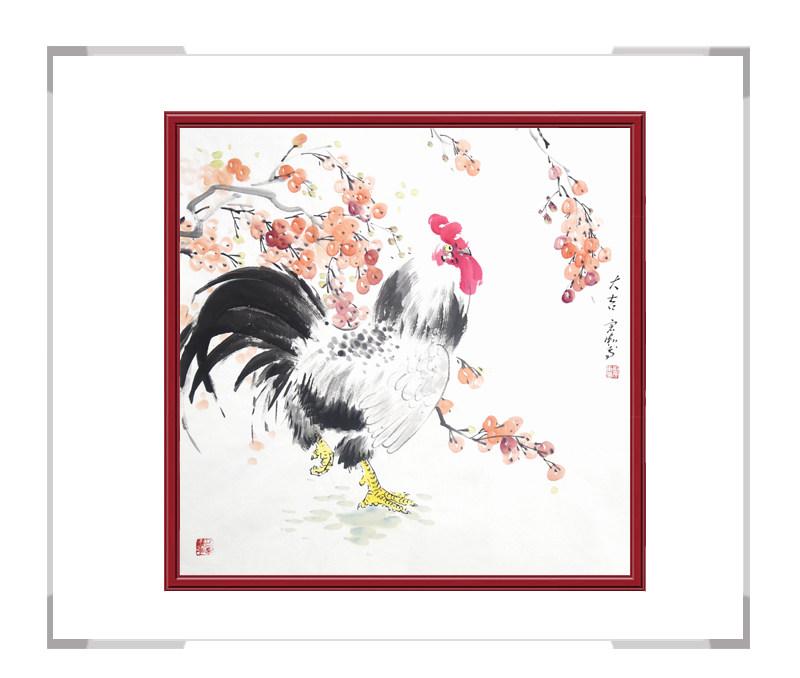 中国工笔画学会会员刘宗伟-斗方花鸟作品之三