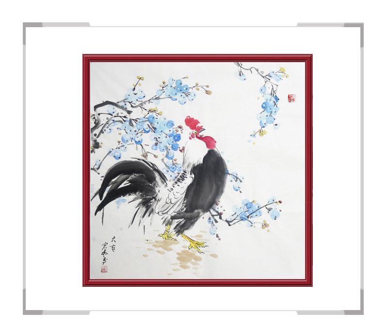 中国工笔画学会会员刘宗伟-花鸟画斗方第一款