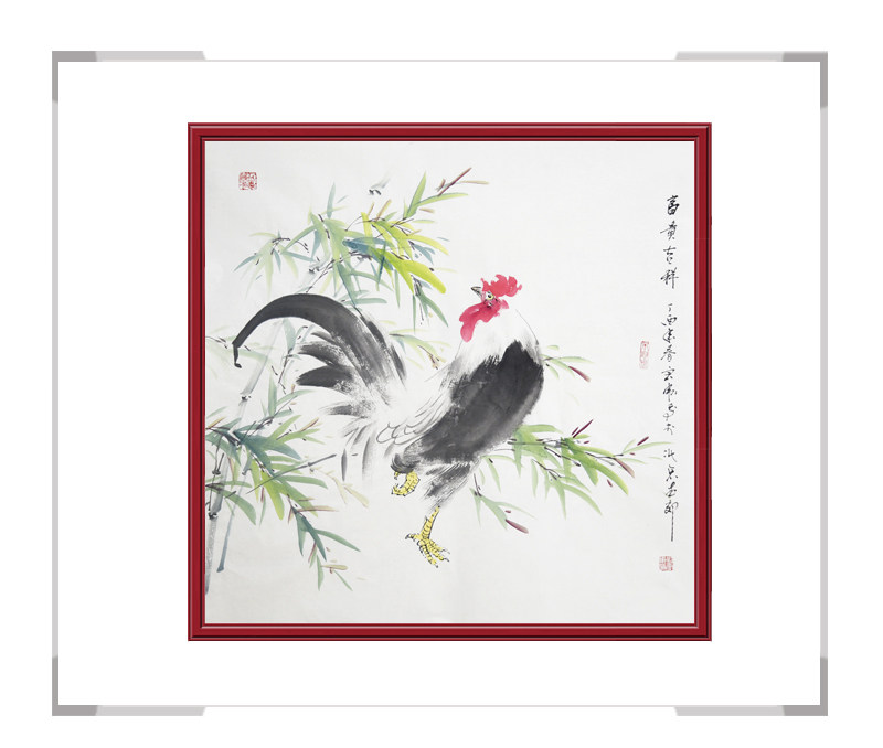 中国工笔画学会会员刘宗伟-花鸟画斗方第二款