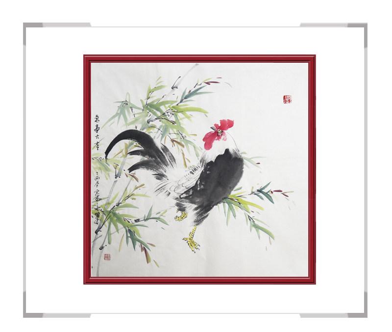 中国工笔画学会会员刘宗伟-花鸟画斗方第三款