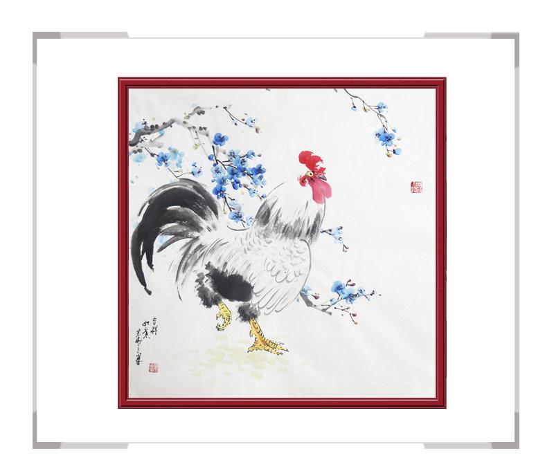 中国工笔画学会会员刘宗伟-花鸟画斗方作品一