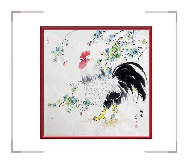 中国工笔画学会会员刘宗伟作品-花鸟画斗方第一款