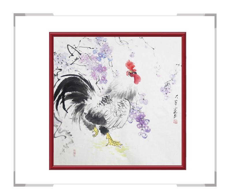 中国工笔画学会会员刘宗伟作品-花鸟画斗方第二款