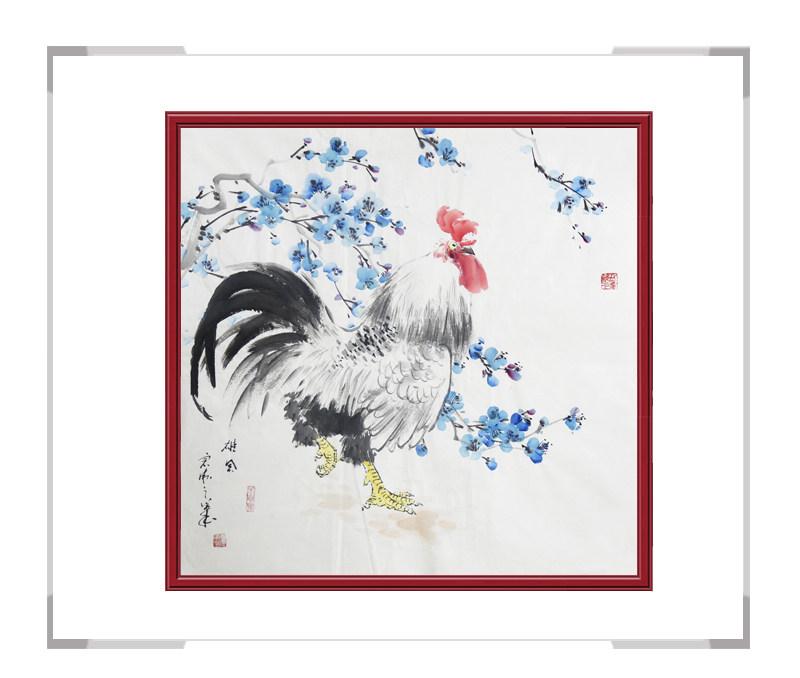 中国工笔画学会会员刘宗伟作品-花鸟画斗方第三款