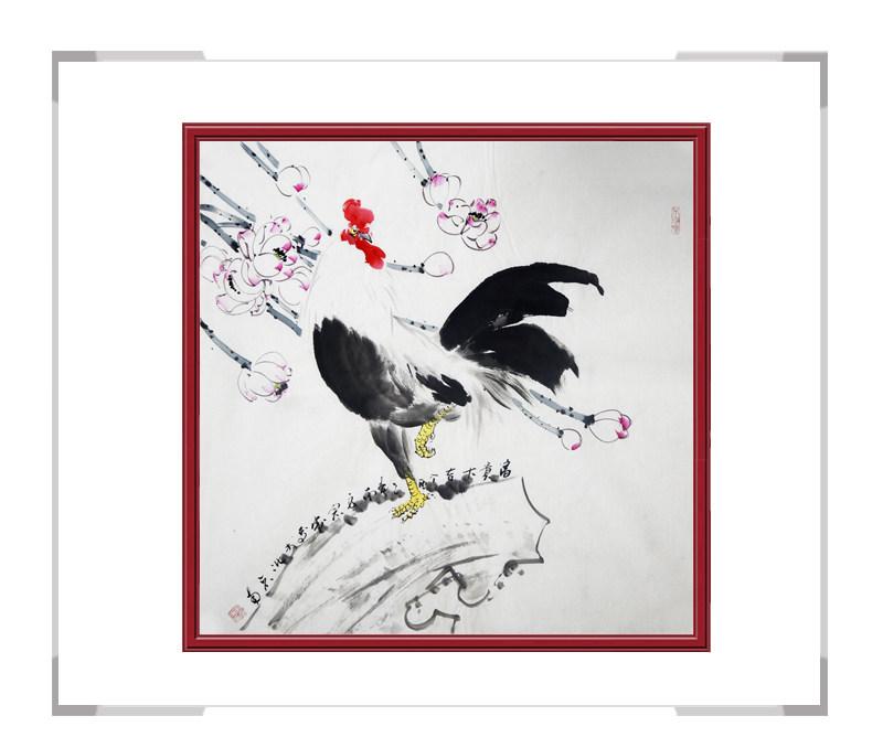 中国工笔画学会刘宗伟-斗方花鸟画第二款