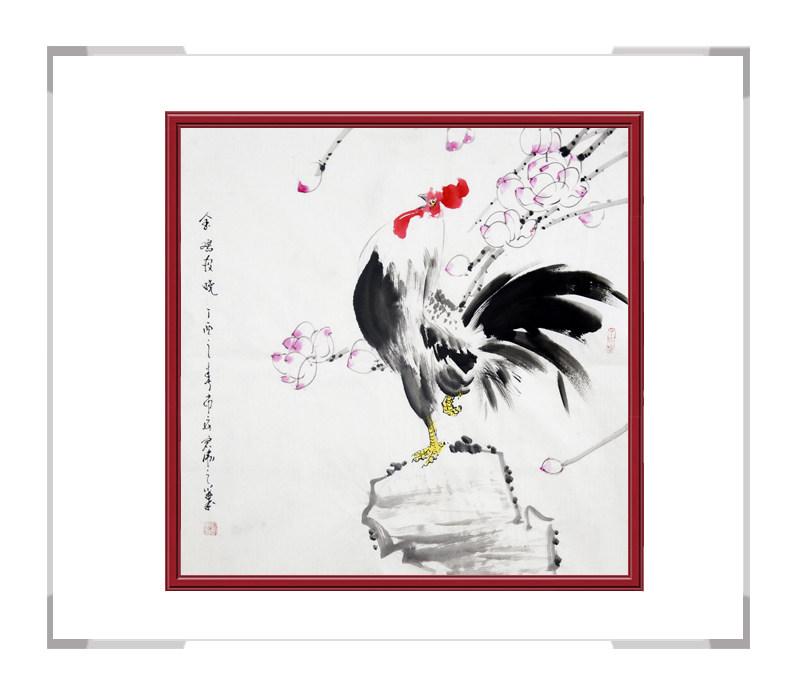 中国工笔画学会刘宗伟-斗方花鸟画第三款