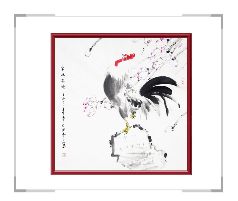中国工笔画学会刘宗伟作品-斗方花鸟画第一款