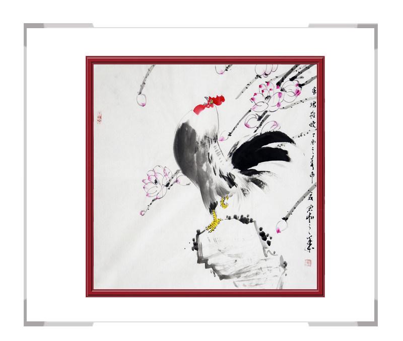 中国工笔画学会刘宗伟作品-斗方花鸟画第二款
