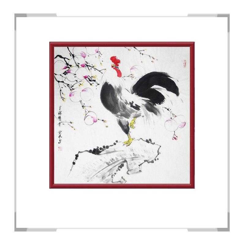 中国工笔画学会刘宗伟-斗方花鸟画作品二