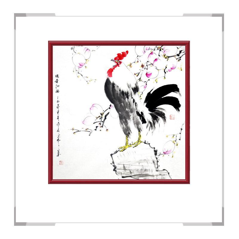 中国工笔画学会会员刘宗伟老师-斗方花鸟画第二款