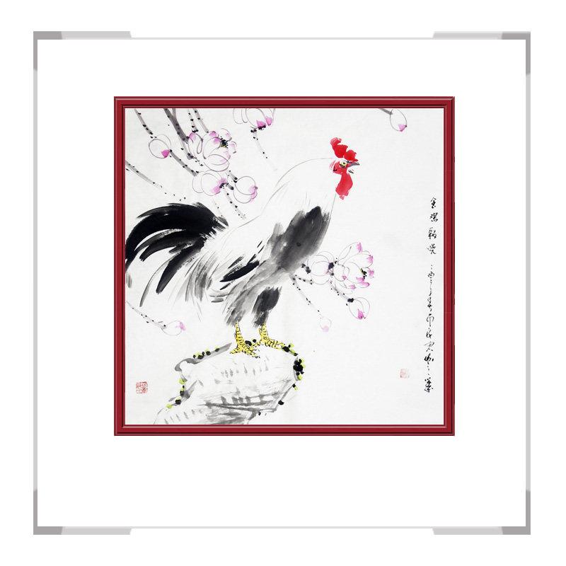 中国工笔画学会会员刘宗伟老师-斗方花鸟画作品一