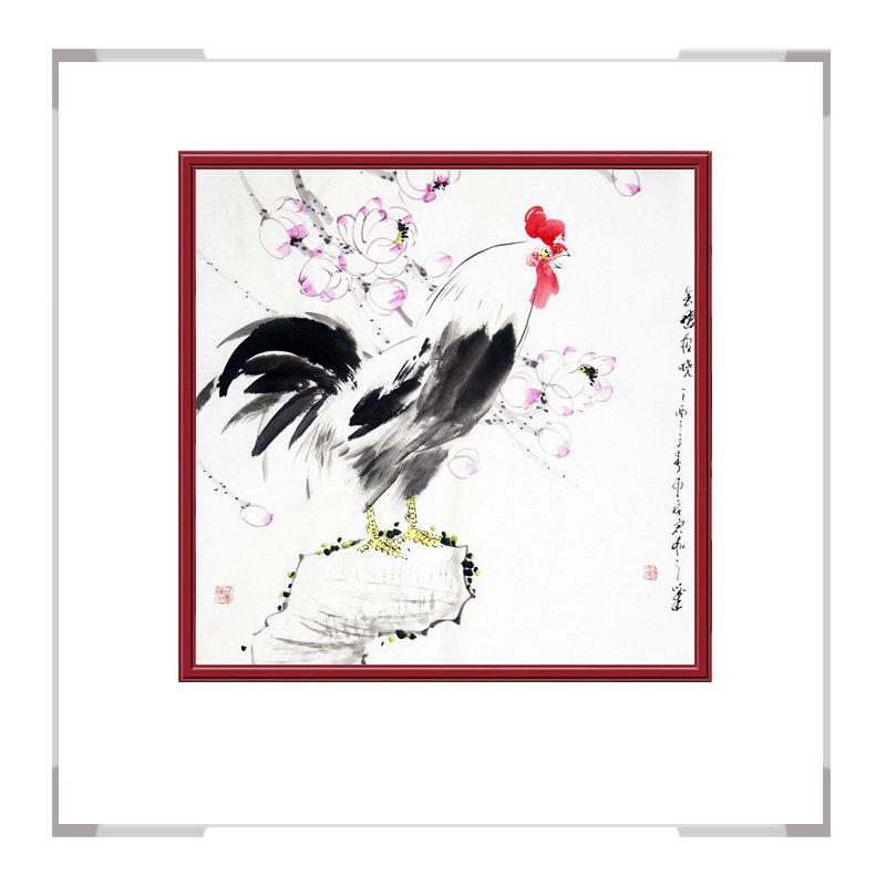 中国工笔画学会会员刘宗伟老师-斗方花鸟画作品二