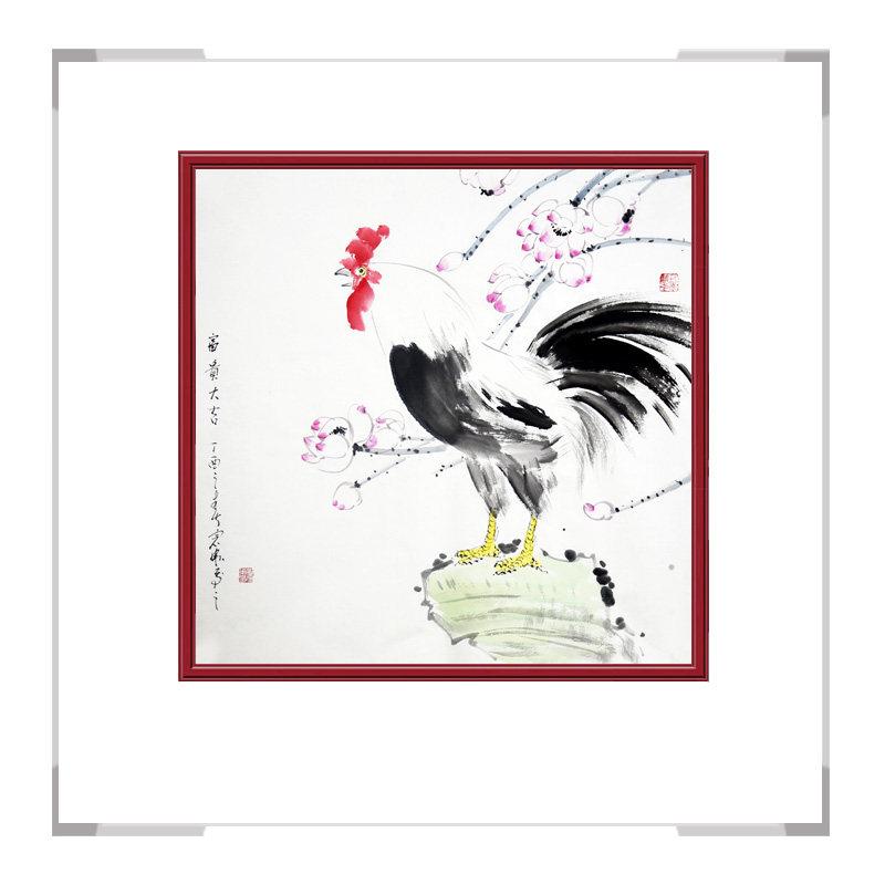 中国工笔画学会会员刘宗伟老师-斗方花鸟作品二