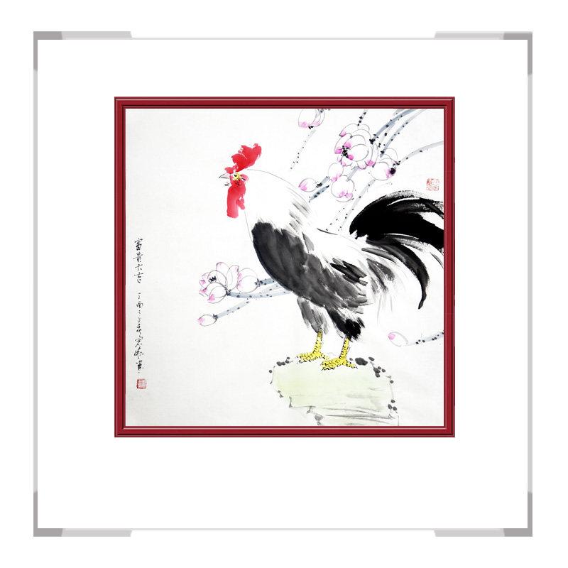 中国工笔画学会会员刘宗伟老师-斗方花鸟作品三