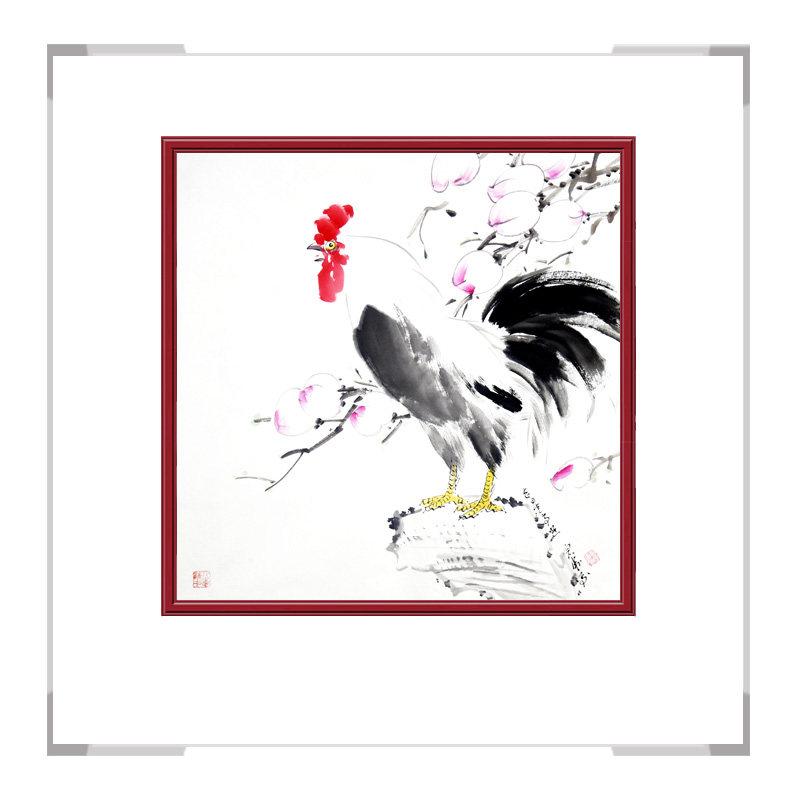 中国工笔画学会会员刘宗伟老师-花鸟画斗方第一款