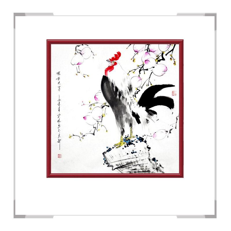 中国工笔画学会会员刘宗伟老师-花鸟画斗方第二款