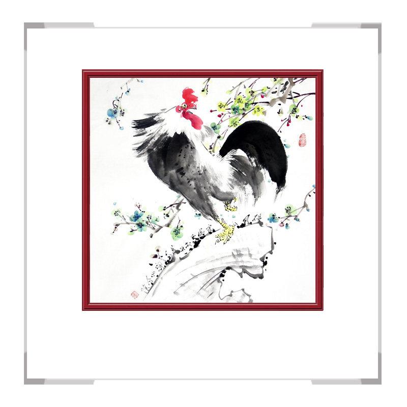 中国工笔画学会会员刘宗伟老师-花鸟画斗方第三款