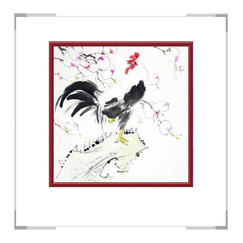 中国工笔画学会会员刘宗伟老师-花鸟画斗方作品一