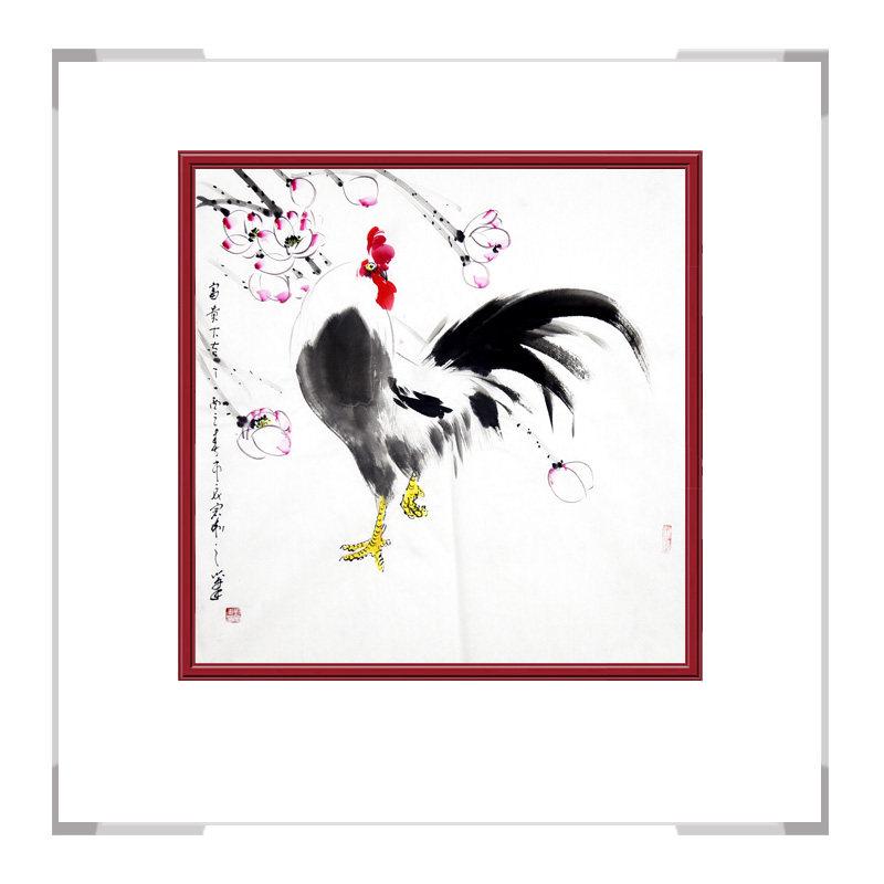 中国工笔画学会会员刘宗伟老师-花鸟画斗方作品二