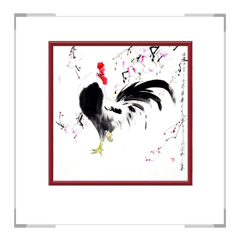 中国工笔画学会会员刘宗伟老师-花鸟画斗方作品三