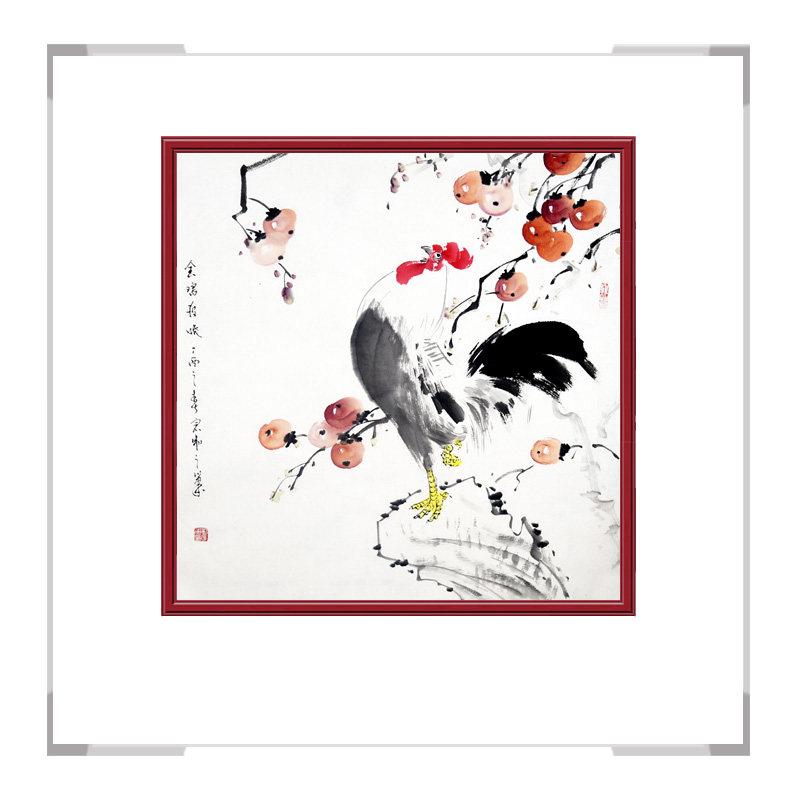 中国工笔画学会会员刘宗伟老师作品-花鸟画斗方之一