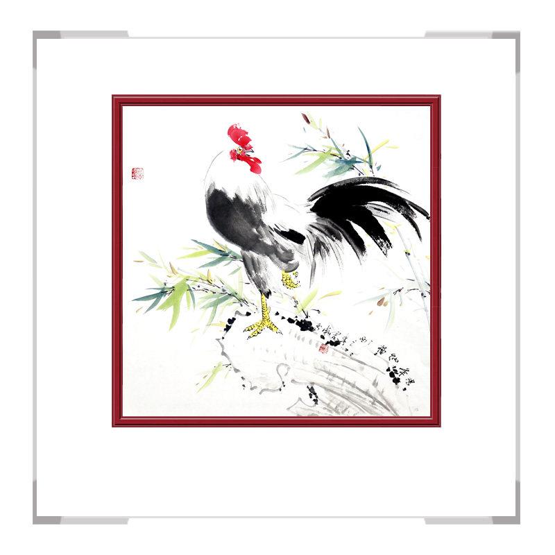 中国工笔画学会会员刘宗伟老师作品-花鸟画斗方之二