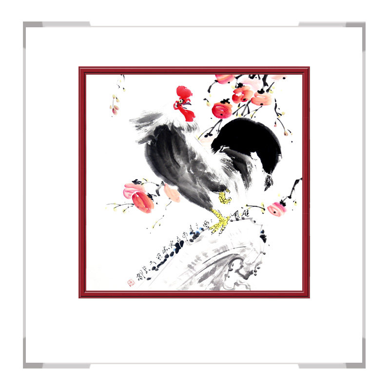 中国工笔画学会会员刘宗伟老师作品-花鸟画斗方之三