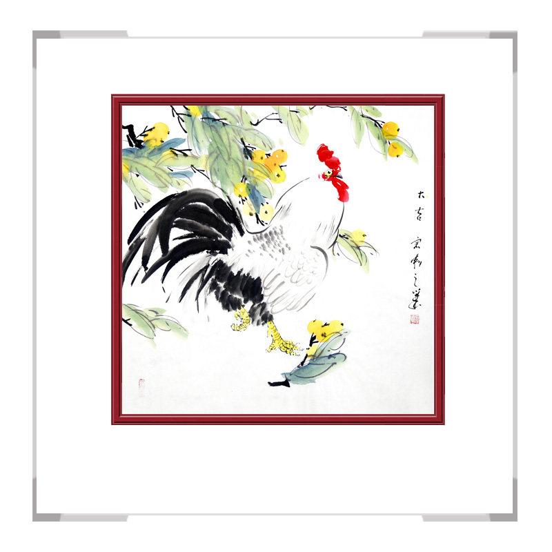 中国工笔画学会会员刘宗伟老师-花鸟画斗方公鸡一