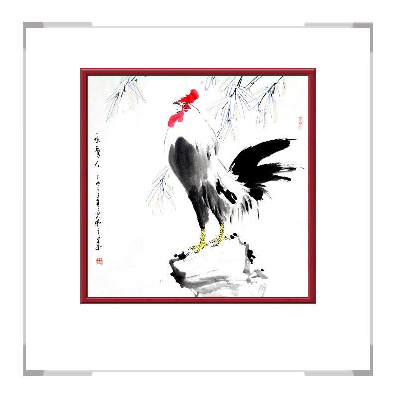中国工笔画学会刘宗伟老师-斗方花鸟画二款