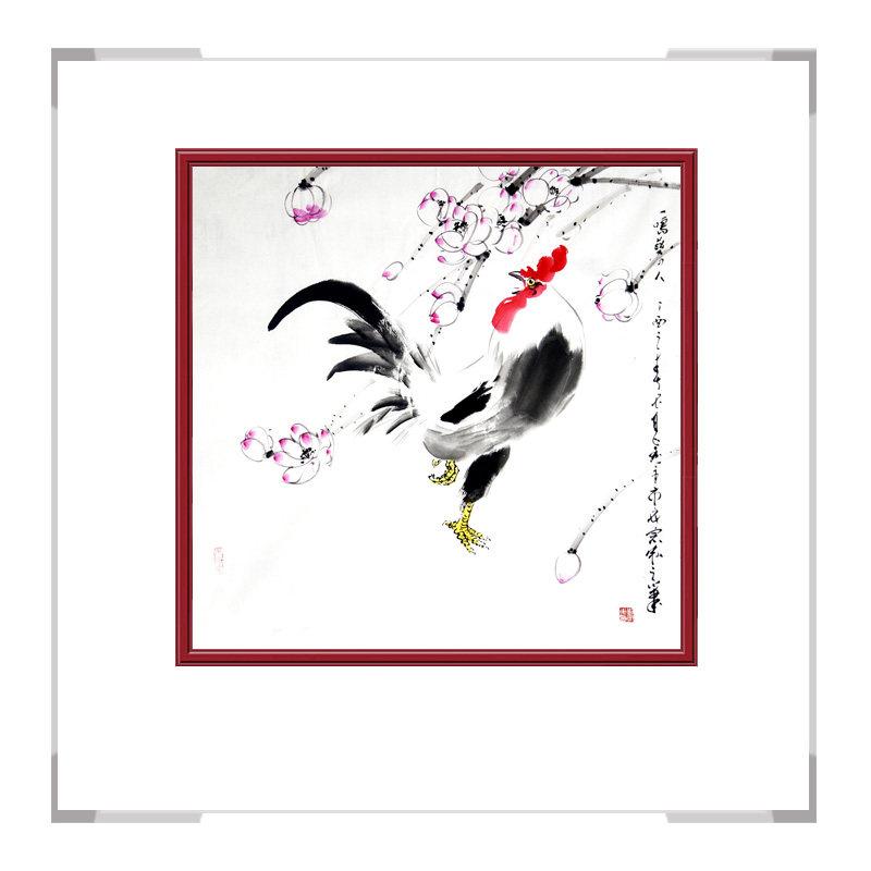 中国工笔画学会刘宗伟老师-斗方花鸟画三款