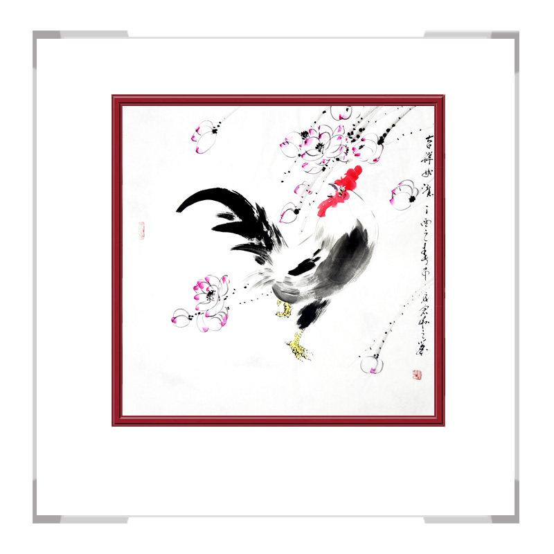 中国工笔画学会刘宗伟老师作品-斗方花鸟画第一款