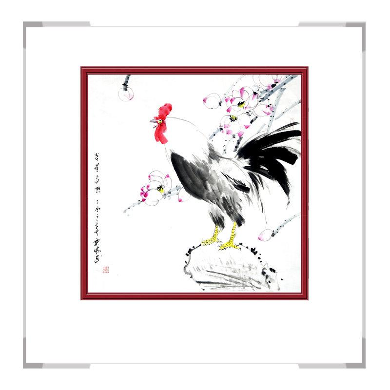 中国工笔画学会会员画家刘宗伟-斗方花鸟画第一款