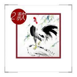 中国工笔画学会会员画家刘宗伟-斗方花鸟画第二款