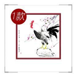 中国工笔画学会会员画家刘宗伟-斗方花鸟画第三款