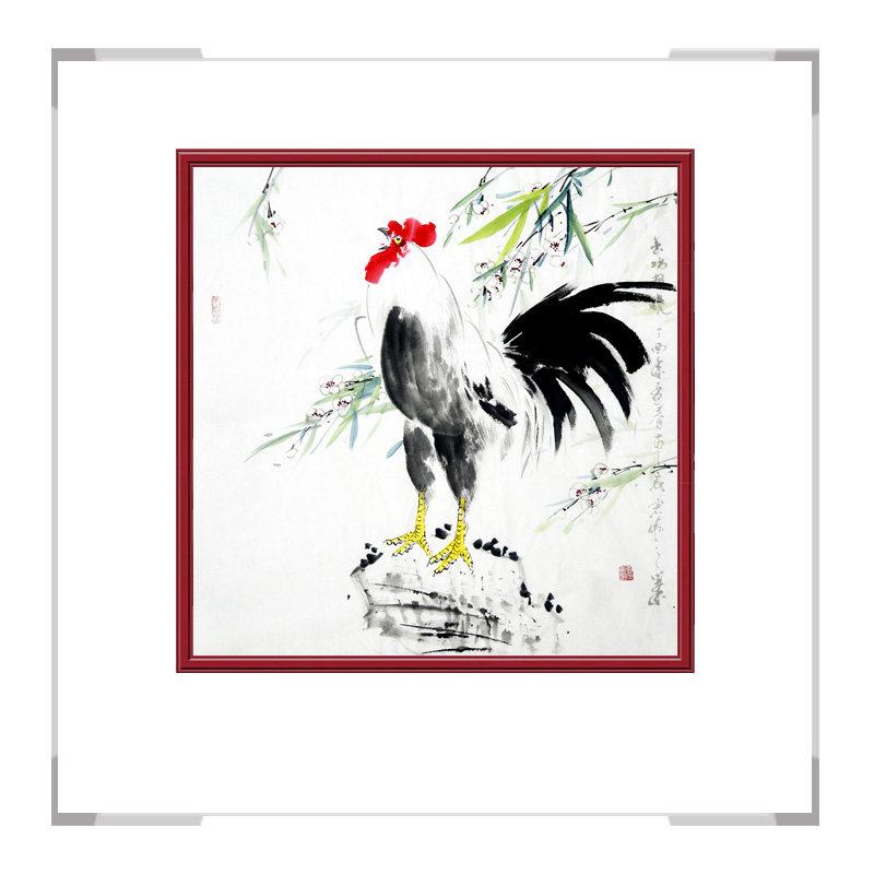 中国工笔画学会会员画家刘宗伟作品-斗方花鸟画第一款