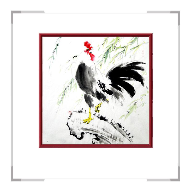 中国工笔画学会会员画家刘宗伟作品-斗方花鸟画第二款