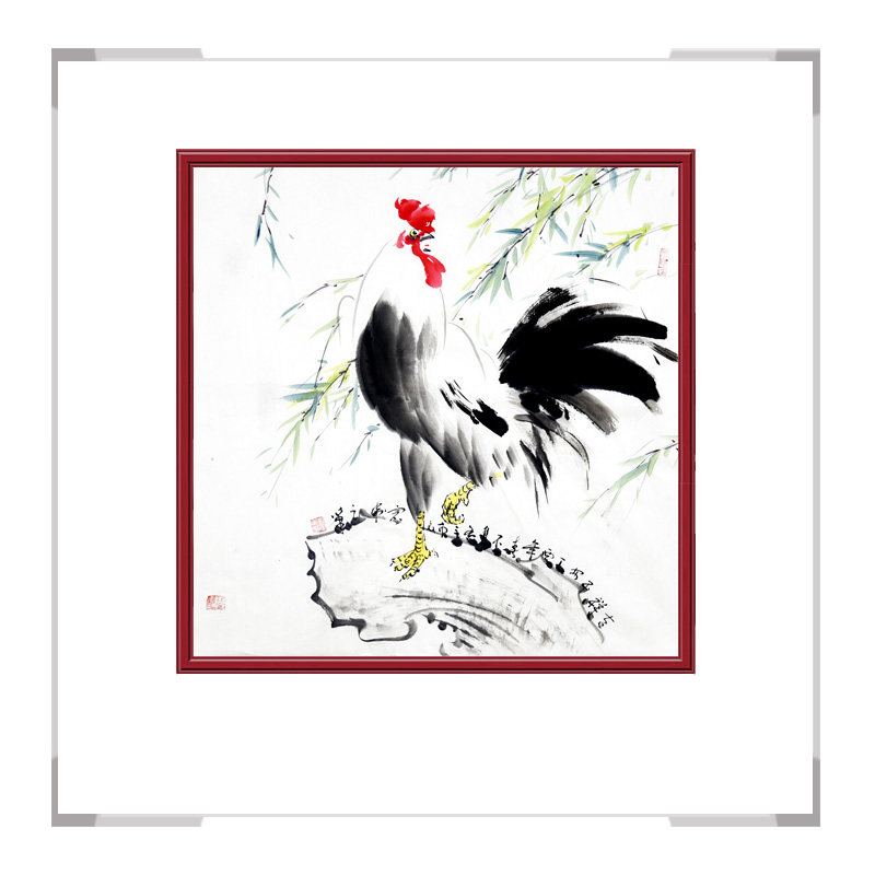 中国工笔画学会会员画家刘宗伟作品-斗方花鸟画第三款