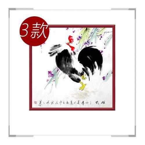 中国工笔画学会会员画家刘宗伟-斗方花鸟画作品三