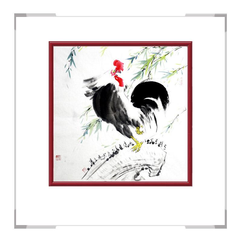 中国工笔画学会会员画家刘宗伟-斗方花鸟画作品一