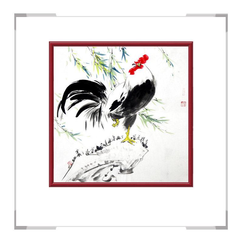 中国工笔画学会会员画家刘宗伟-斗方花鸟画作品二