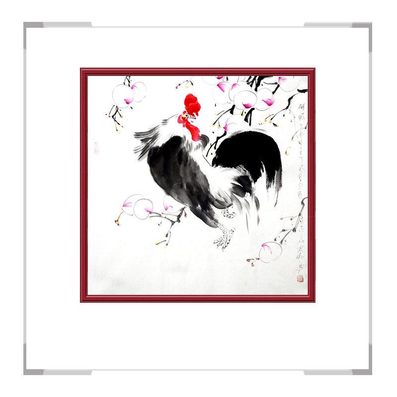 中国工笔画学会会员画家刘宗伟-斗方花鸟作品三