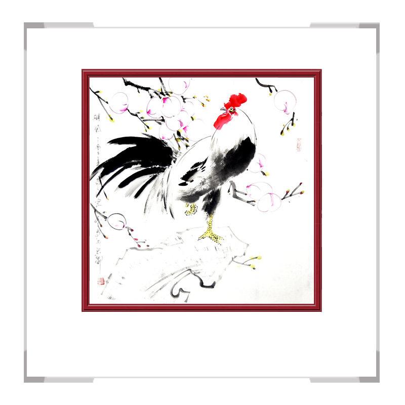 中国工笔画学会会员画家刘宗伟-花鸟画斗方第一款