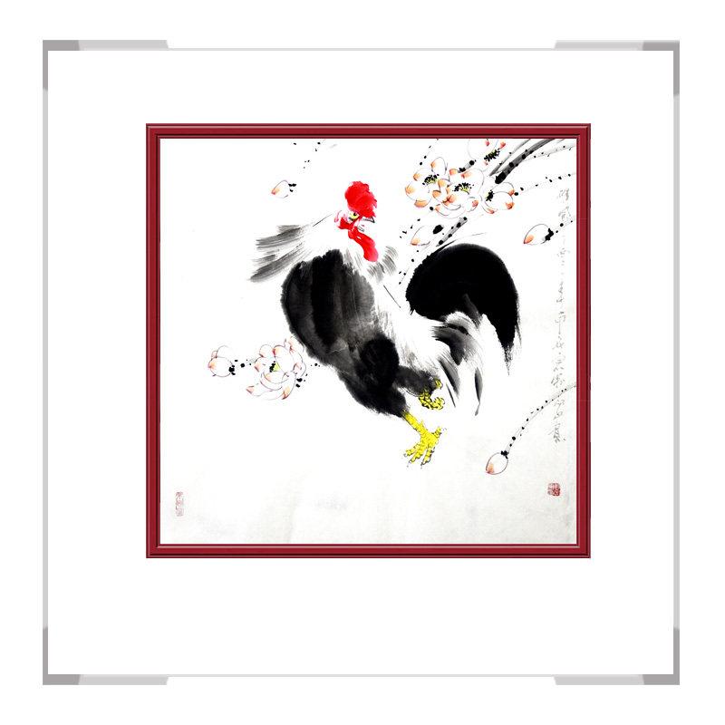 中国工笔画学会会员画家刘宗伟-花鸟画斗方第二款